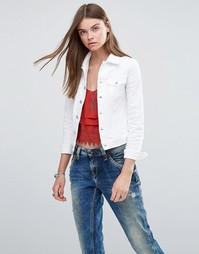 Джинсовая куртка Pepe Jeans Core - 10oz optic white str (белый)