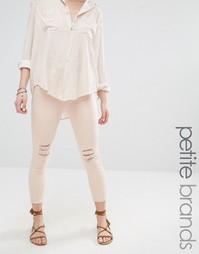 Укороченные зауженные джинсы Vero Moda Petite - Кремовый загар