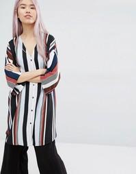 Oversize-блузка в полоску Monki - Полоски