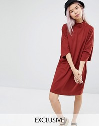 Эксклюзивное платье‑свитшот в стиле oversize с карманами Monki
