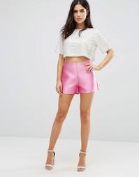 Жаккардовые шорты Pixie & Diamond - Hot pink