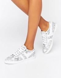 Кроссовки с принтом на шнуровке Gola Aster