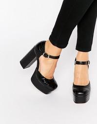 Туфли на платформе ASOS PANAMA - Черный
