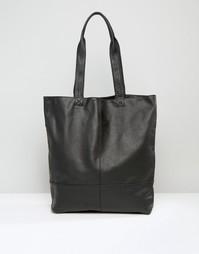 Кожаная сумка‑тоут ASOS - Черный