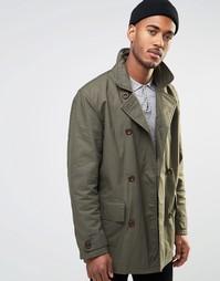 Двубортное пальто Farah - Зеленый