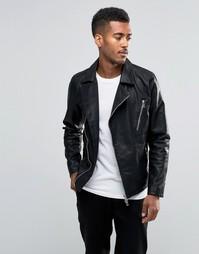 Куртка из кожзаменителя Jack & Jones Premium - Черный