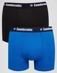 Набор из 2 пар боксеров-брифов Lambretta - Черный