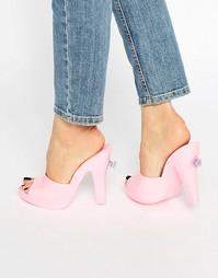 Розовые сабо Melissa + Jeremy Scott - Bubblegum pink
