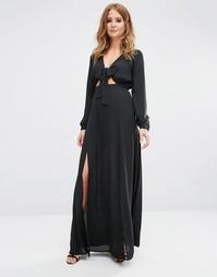 Платье макси с завязками спереди Millie Mackintosh - Черный