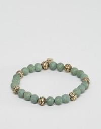 Зеленый браслет из бусин Icon Brand - Зеленый