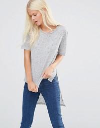 Асимметричная футболка JDY - Светло-серый меланж