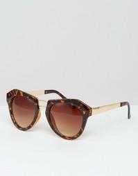 Солнцезащитные очки в оправе с геометрическим дизайном Missguided