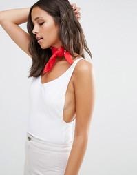 Красный нашейный платок с принтом Missguided - Красный