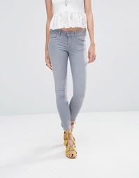 Зауженные джинсы Pepe Jeans Lola 28 - Серый с плотностью 10 унций