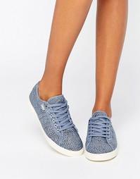 Джинсовые кроссовки с принтом на шнуровке Gola Aster - Деним в горошек