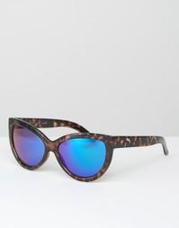 Солнцезащитные очки кошачий глаз с синими стеклами 7X