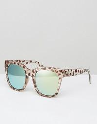 Солнцезащитные очки с животным принтом в D-образной оправе 7X