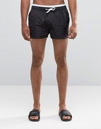 Суперкороткие шорты для плавания с двойным поясом ASOS - Черный