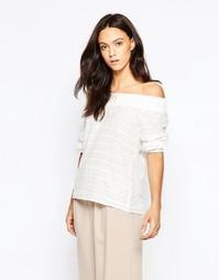 Блузка с открытыми плечами Minimum Menni - Белый
