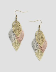 Серьги-подвески с листиками Nylon