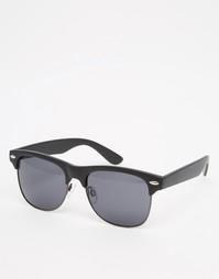Матовые черные солнцезащитные очки в стиле ретро AJ Morgan - Черный