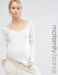 Трикотажный домашний топ с сетчатыми вставками Bluebelle Maternity