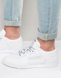 Белые кроссовки Reebok Workout AQ9976 - Белый