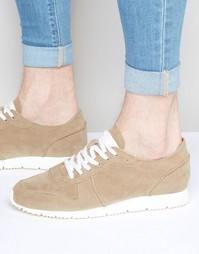 Песочные кроссовки в стиле ретро из искусственной замши ASOS