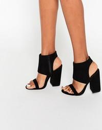 Босоножки на каблуке ASOS HALFWAY - Черный