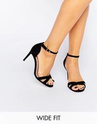 Сандалии для широкой стопы на каблуке ASOS HIDE AND SEEK - Черный
