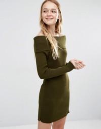 Платье-джемпер с открытыми плечами Daisy Street - Хаки