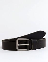 Кожаный ремень для чиносов Esprit - Черный
