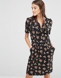 Платье с цветочным принтом Trollied Dolly ItS Bowtime - Черный