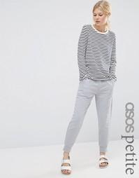 Джоггеры с контрастными атласными карманами ASOS PETITE Luxe - Серый