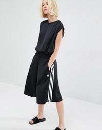 Юбка-шорты с тремя полосками adidas Originals - Черный