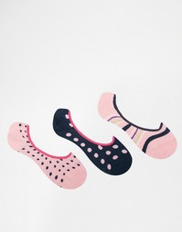 3 пар носков розового/лаймового цвета Penguin