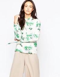 Рубашка с принтом Minimum Lican - Flash green