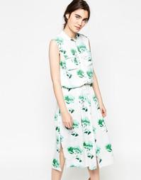 Платье-рубашка макси Minimum Freig - Flash green