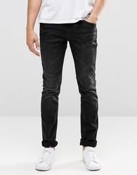 Черные выбеленные эластичные джинсы скинни Blend Cirrus
