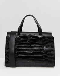 Черная сумка‑тоут Fiorelli Brompton - Brompton black croc