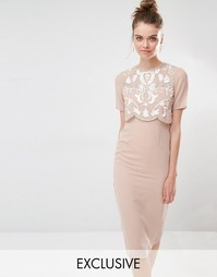 Платье-футляр с декорированным верхним слоем Frock and Frill