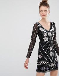 Декорированное платье мини Frock and Frill - Черный