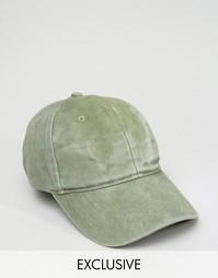 Бейсболка цвета хаки Reclaimed Vintage - Зеленый