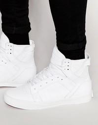Классические кожаные кроссовки Supra Skytop - Белый