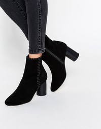 Замшевые ботинки с декоративной строчкой ASOS RAINE - Черный