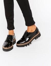 Лакированные туфли на массивной подошве ALDO - Черный лакированный