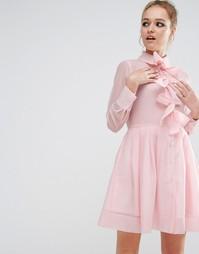Платье-рубашка с бантиками спереди Sister Jane - Розовый