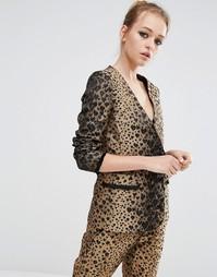 Блейзер с леопардовым принтом сердечками Sister Jane Co-Ord - Золотой