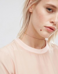ASOS Gold Plated Sterling Silver Chain Choker Necklace - Золотой