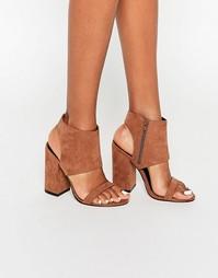 Босоножки на каблуке ASOS HALFWAY - Серо-коричневый